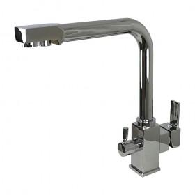 Смеситель для кухни под осмос Globus Lux GLLR-1000 на гайке, латунь, Хром