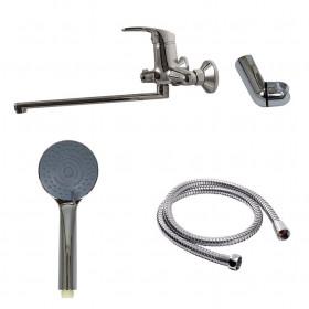 Смеситель для ванны Globus Lux Caprice GLCA-0208 EURO латунь L350мм, комплект с душем