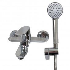 Смеситель для ванны Globus Lux Ontario GLO-0102N EURO латунь, комплект с душем