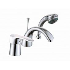 Смеситель для ванны Globus Lux QUEENSLAND GLQU-0109 монтаж на борт ванны, латунь, картридж Sedal, комплект