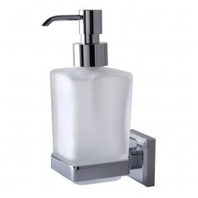 Дозатор жидкого мыла навесной стекло Квадрат ЛАТУНЬ TOPAZ TKB 9933A