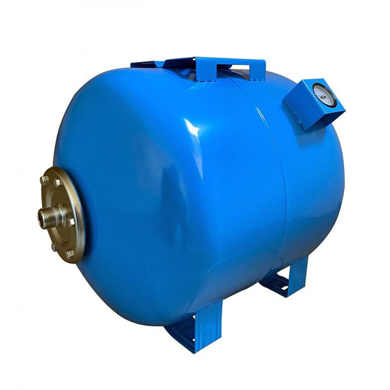 Гидроаккумулятор 100л VOLKS pumpe 10bar горизонтальный с манометром